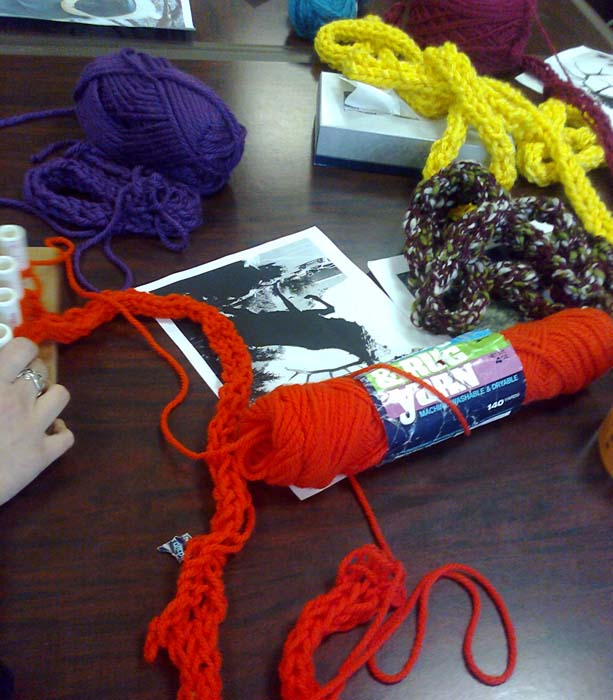 yarn on table