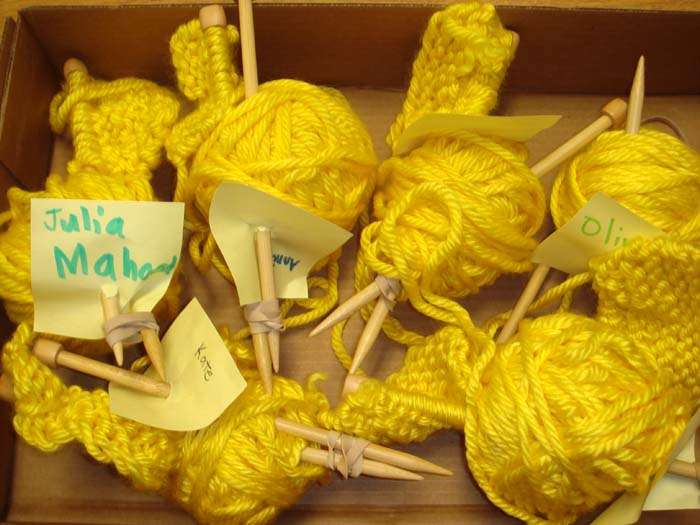 4th grader knitting projects